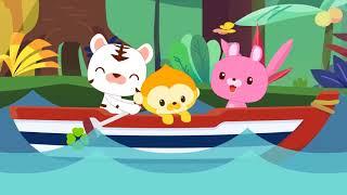 Детские песенки - мы на лодочке плывем ⛵ Baeko - новые мультики (потешки и рифмы для детей)