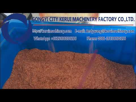 Actual working performance of KR600S copper wire granulation machine in Singapore