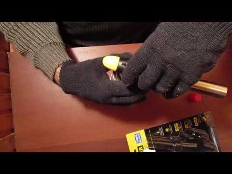 Видео: Газовая горелка на баллон, с  пьезоподжигом.