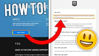 HOW TO GET A SUPPORT A CREATOR CODE ON FORTNITE!