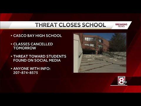 Threat closes Casco Bay High School