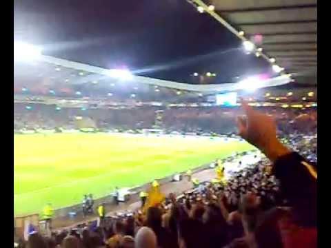 Scotland v Italy 2008 - HT songs & Braveheart speech