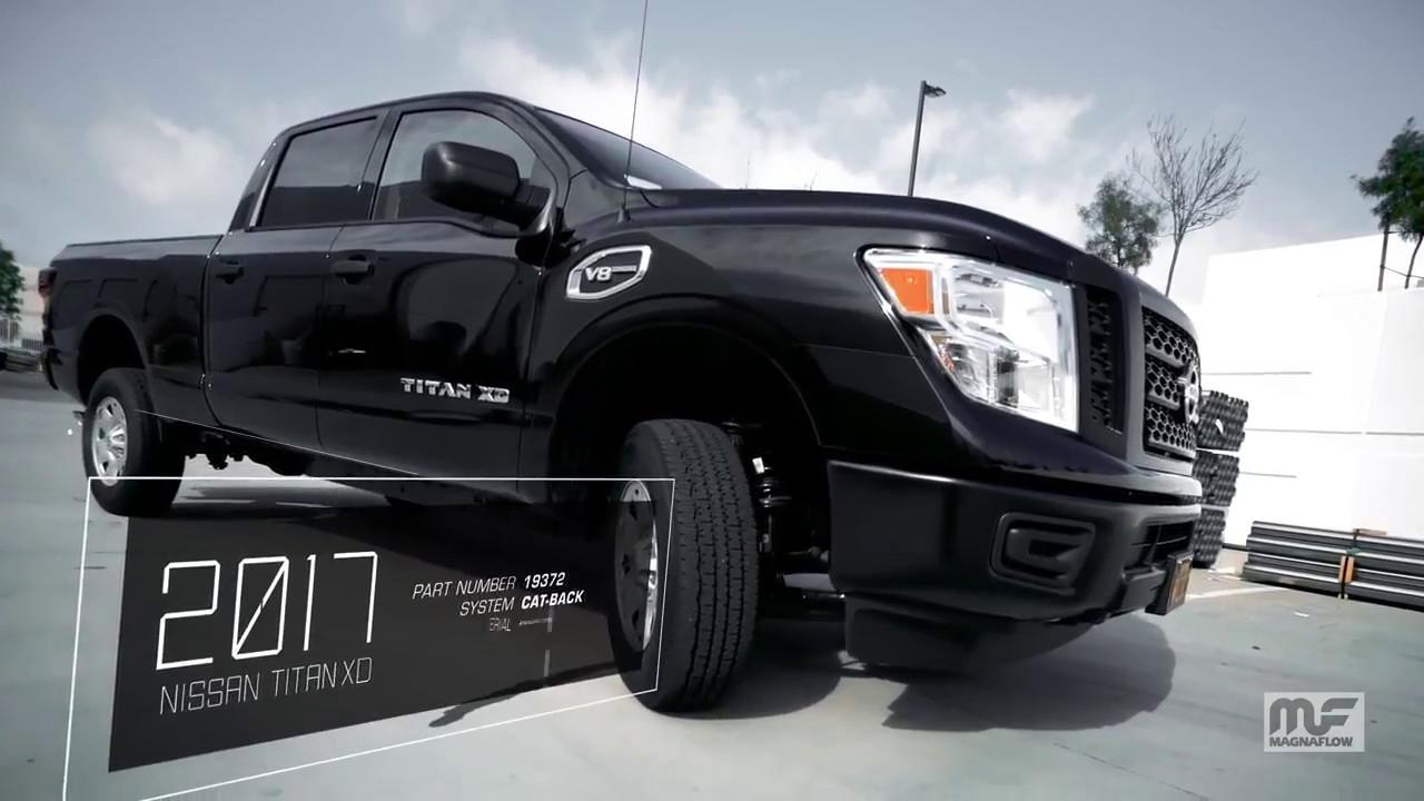 2017 Nissan Titan Accessories >> 2017 Nissan Titan XD with Magnaflow Cat Back Exhaust - YouTube