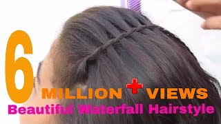 Beautiful Waterfall Hairstyle | Simple Hairstyle