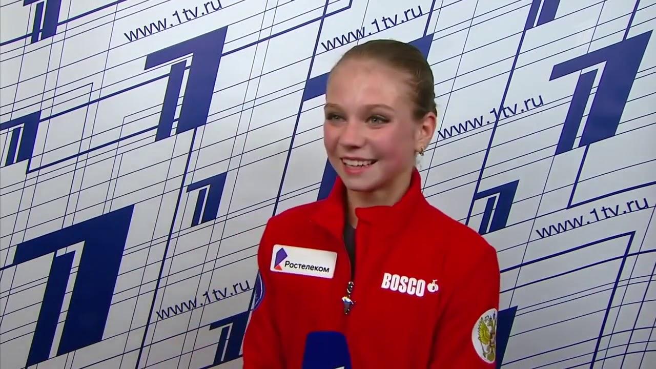Alexandra Trusova / Test skates 2020 Interview after FS
