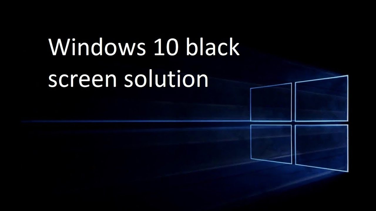 screen goes black when playing games windows 10
