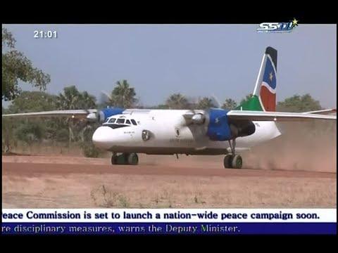 South Sudan Airline - Accident نجاة ركاب لشركة طيران تتبع لجنوب السودان