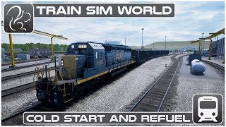 Train Sim World - Cold Start & Refuel [CSX Heavy Haul]