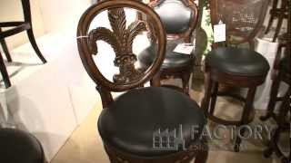 Hillsdale Fleur De Lis Bar Stool With Back