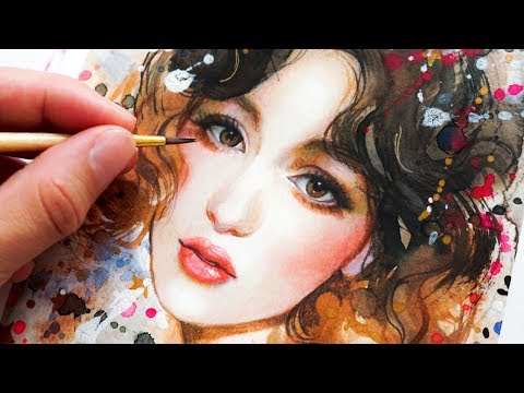 how-to-paint-a-portrait-with-watercolors-&-color-pencils-in-only-5-steps!