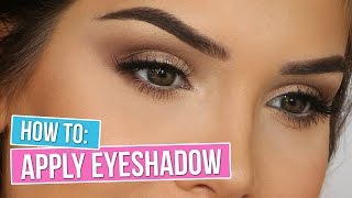 HOW TO APPLY EYESHADOW: THE SMOKEY EYE | Katerina Williams