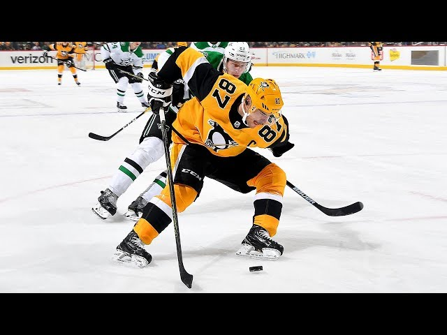Sidney Crosby kicks puck to stick for great goal in return from injury