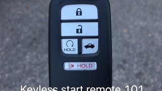 Honda smart entry with push button start.  Some of the basic features.