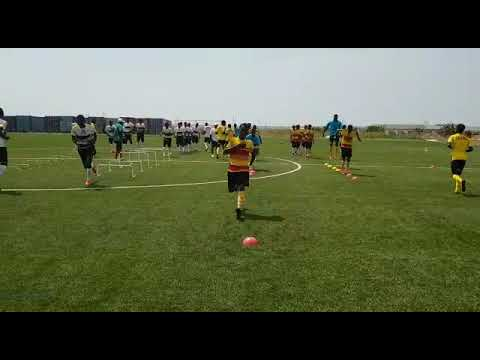 Black Starlets training at Ghanaman soccer centre of Excellence, Prampram