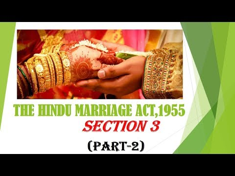 Hindu Marriage Act, 1955  (definitions) in telugu  section 3 ( part 2)