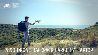 "RIVACASE 7890 black Drone Backpack large for 16"" laptop"