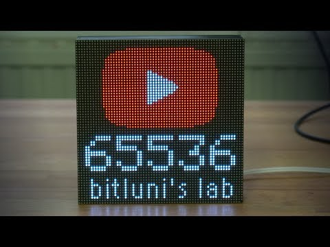 YouTube Button - Nerd Level [ESP8266, RGB LED Matrix]