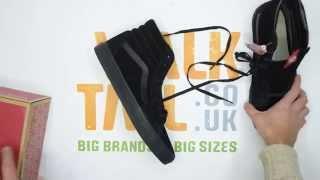 Vans SK8-Hi - Black / Black - Walktall | Unboxing | Hands on