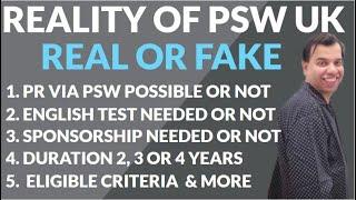 PSW VISA UK | REALITY OF PSW VISA UK | PSW VISA UK RULES | UK POST STUDY WORK VISA 2021 |PSW VISA UK