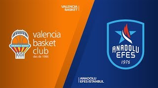 Valencia Basket - Anadolu Efes Istanbul Highlights | Turkish Airlines EuroLeague, RS Round 3