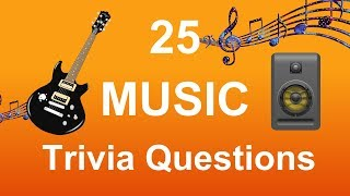 25 Music Trivia Questions | Trivia Questions & Answers |