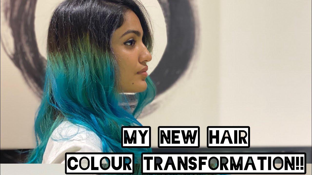 MY NEW HAIR COLOUR TRANSFORMATION | SANIYA IYAPPAN
