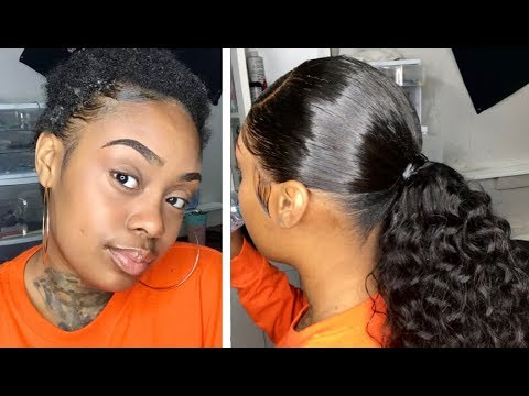 FRONTAL PONYTAIL! (W/ Natural Hair Left Out)