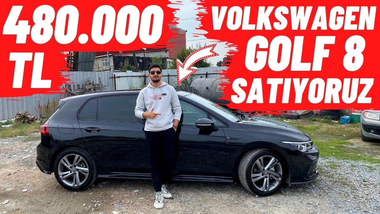 480.000 TL VOLKSWAGEN GOLF 8 SATIYORUZ !