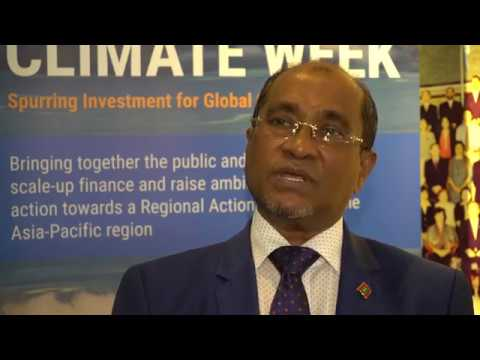 Voices from Asia-Pacific Climate Week 2017: H.E. Abdullahi Majeed