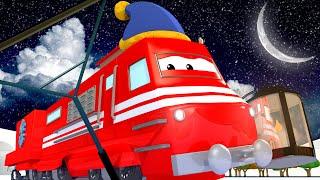 Трой делает лёд на озере к ЛЕДОВОЙ ВЕЧЕРИНКЕ! - Поезд по имени Трой 🎄 РОЖДЕСТВЕНСКИЙ мультфильм