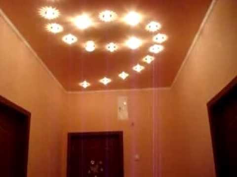 Поляны как разместить светильники на потолке натяжном режим работы