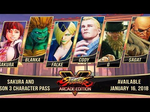 STREET FIGHTER V (SEASON 3 CHARACTERS DLC) GAMEPLAY WALKTHROUGH [1080P HD]