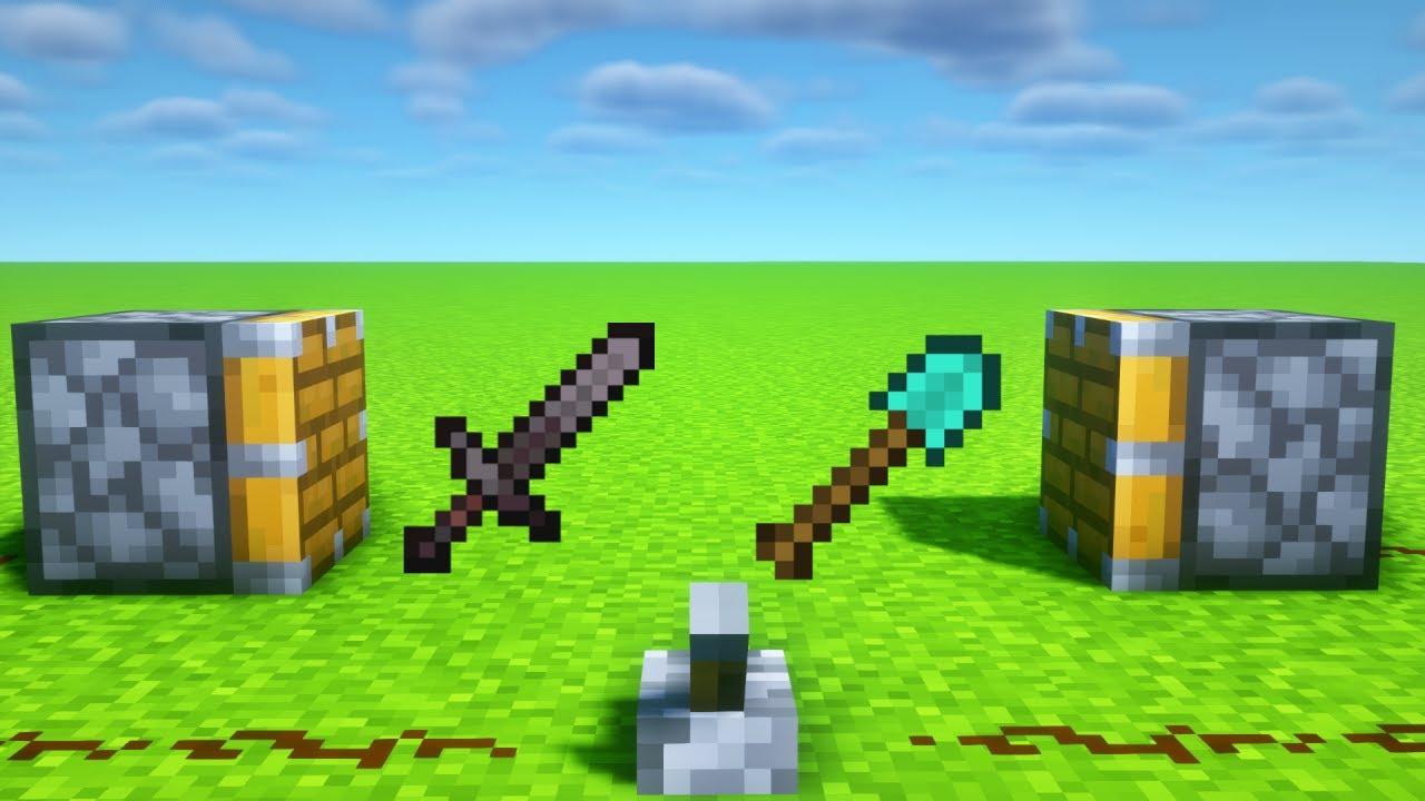 NETHERITE Sword + DIAMOND Shovel = ???