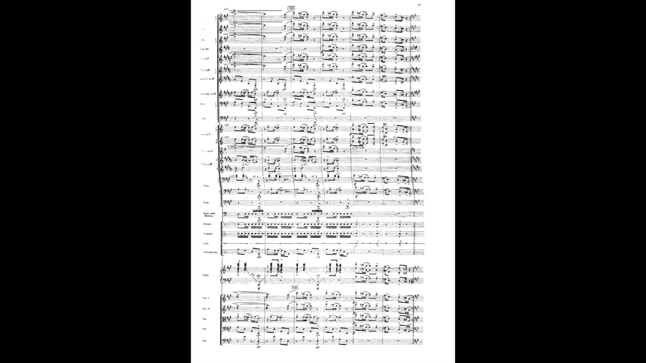 Bernstein Symphonic Dances From West Side Story Wscore