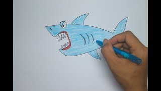 How to Draw Shark Fish For Kids