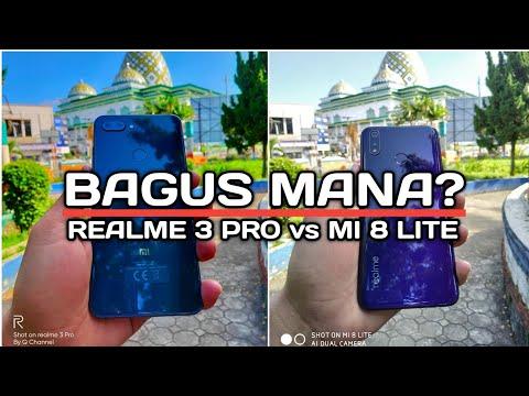 Realme 3 PRO Vs Xiaomi Mi 8 Lite Indonesia | Perbandingan Kamera HP 3 Jutaan Terbaik 2019