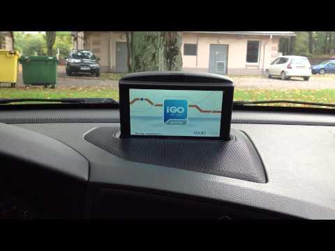 IGo на выезжающем штатном навигаторе Volvo RTI
