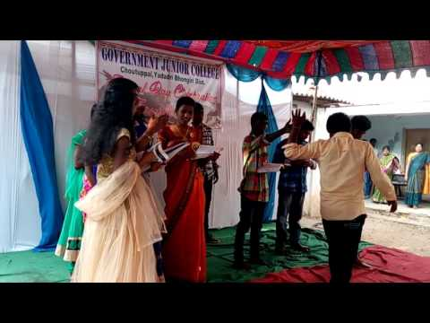 college farewell and annual day 2017 Govt.Junior college chotuppal