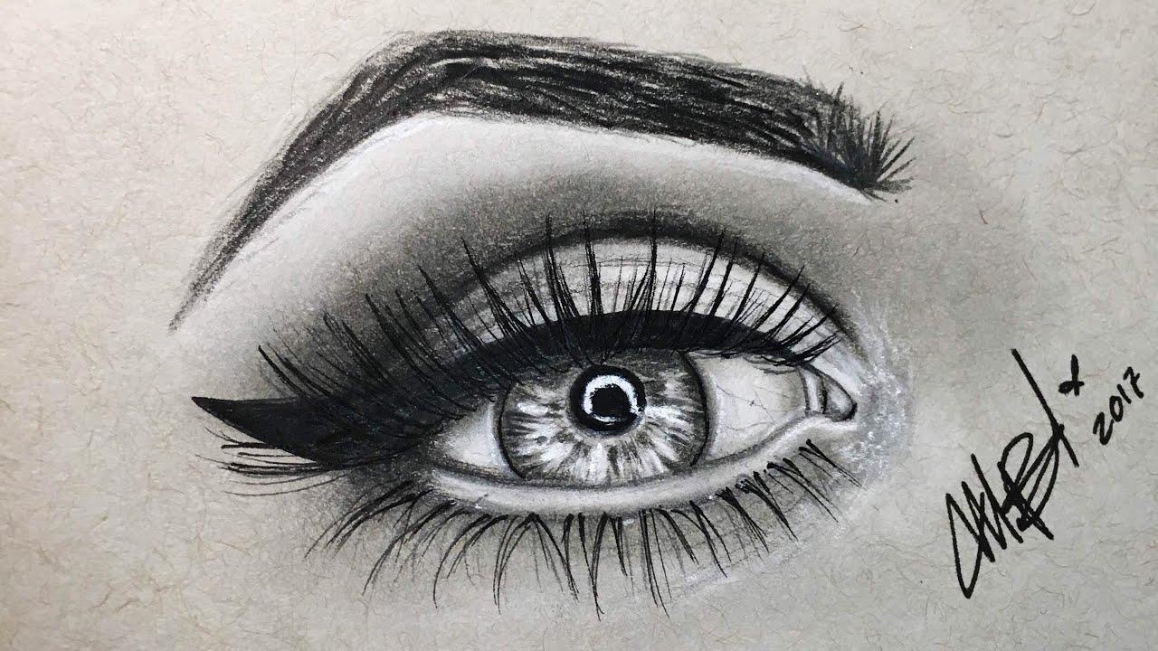 Como Dibujar Un Ojo Semi Realista Como Dibujar Y Pintar Un Ojo