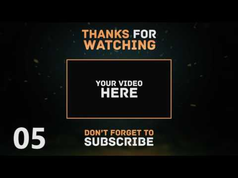 Top 10 Free Outro Template for YouTube Videos (After effect)