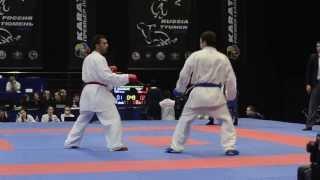 Yagcı Serkan (TUR) - Abdrakhmanov Egor (RUS). Karate1. Tyumen, April 2013