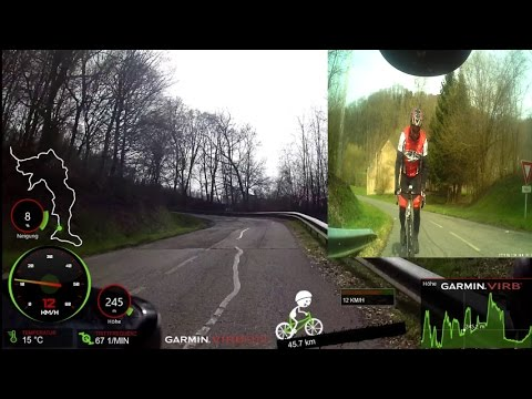 Road Cycling Video for Indoor Up Hill Training 60 Minute Cycliq FLY6 HD Cam