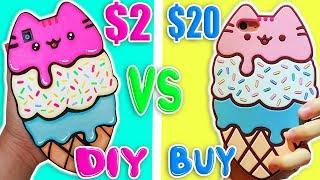 🍦DIY VS BUY Kawaii Cat Ice Cream Phone Case 🍦