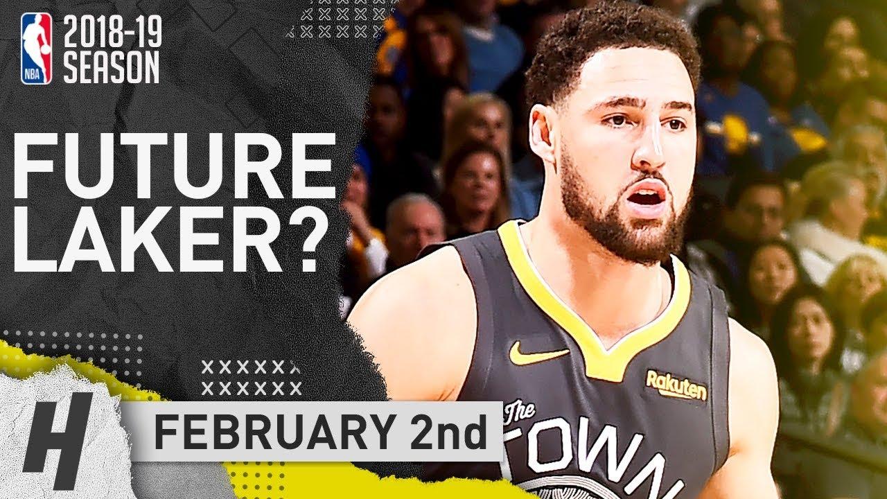 fac473d2e Klay Thompson Full Highlights Warriors vs Lakers 2019.02.02 - 28 Pts ...