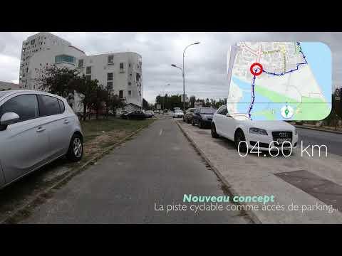 Velotaf Bordeaux #3 - Itinéraire Cyclable Entre Bègles Et Villenave D'Ornon Courrejean