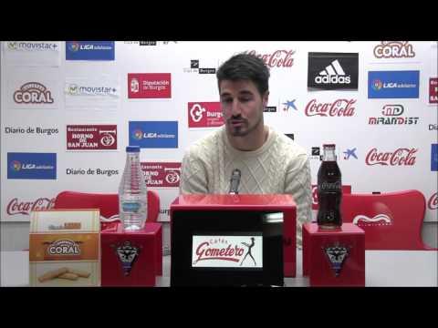 Comparecencia de prensa. Álex García. 29.12.2015