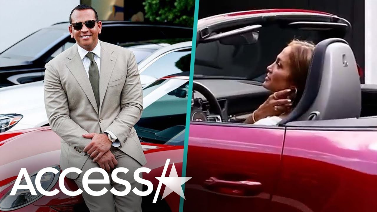 Alex Rodriguez Poses With Porsche He Gave Jennifer Lopez For Her 50th Birthday