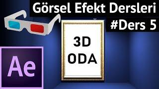 Animasyon Dersleri After Effects& 39 de 3D Oda Tasarımı Ders 5