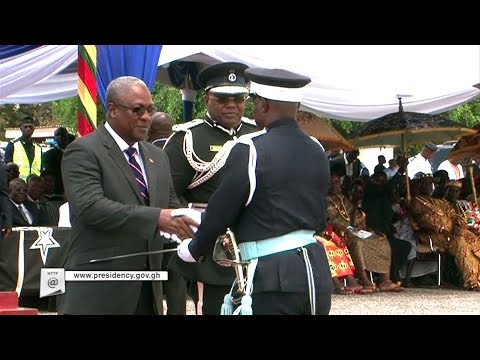 President Mahama reviews graduation ceremony of Police Officer Cadets