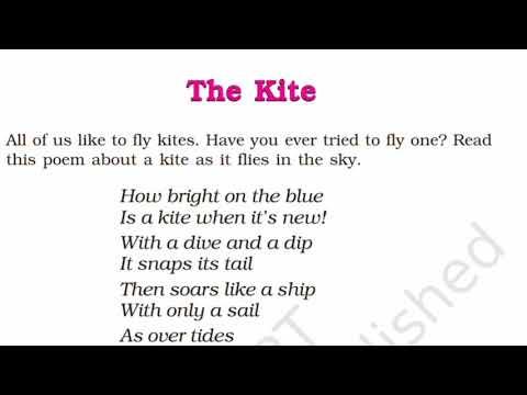 NCERT Class 6 English - Honeysuckle - Poem - The Kite | Full Hindi